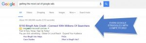 Even Bing competes with Google